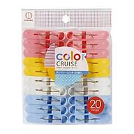 Set 20 kẹp quần áo màu sắc nội địa Nhật Bản thumbnail