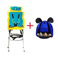 Ghế Ngồi Xe Ga Beesmart X2 BEEX2-0 - Xanh + Tặng Kèm Nón bảo vệ đầu cho bé - Mẫu Ngẫu Nhiên thumbnail