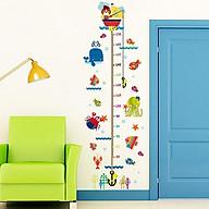 Tranh Decal trang trí phòng trẻ kiểu thước đo chiều cao thumbnail