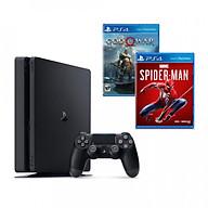Bộ playstation 4 slim (500gb) kèm 2 đĩa game spider-man + godofwar 4 - chính hãng thumbnail