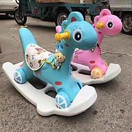 Ngựa Bập Bênh 2 In 1 Vừa Bập Bênh Vừa Đẩy Chân Cho Bé ( Có nhạc ) thumbnail