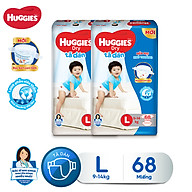 Combo 2 tã dán Huggies Diapers Super Jumbo L68 thumbnail