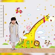 Decal dán tường trang trí phòng cho bé, lớp mầm non- Thước đo hươu tinh nghịch,vui nhộn- mã sp DAY235 thumbnail