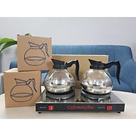 Bình hâm cà phê cao cấp, dung tích 1,6L, đế inox, thân kính thực phẩm thumbnail