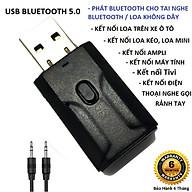 Thiết Bị Thu Phát Nhạc Không Dây VINETTEAM Usb Bluetooth 5.0 Âm Thanh Đa Chức Năng Jack 3.5mm Cho Loa Ô Tô Tai Nghe Bluetooth -Hàng Chính Hãng thumbnail