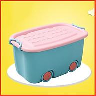 Thùng đựng đồ chơi có bánh xe loại to cho bé yêu thumbnail