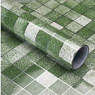 5 mét decal giấy dán bếp tráng nhôm Ô VUÔNG NHỎ khổ 45cm màu xanh lá thumbnail