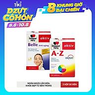 Bộ đôi bổ sung vitamin khoáng chất, chống lão hóa Doppelherz A-Z Depot + Belle Anti Aging (02 hộp 30 viên) thumbnail