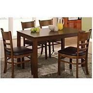bộ bàn ăn cabin nâu 4 ghế thumbnail