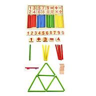 Đồ chơi gỗ giáo dục bảng que tính kèm số và phép toán thumbnail