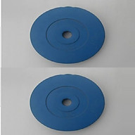 Bộ Tạ Đĩa Bọc Nhựa 2KG ( 1kg tạ) - Màu Xanh Dương thumbnail
