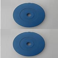 Bộ Tạ Đĩa Bọc Nhựa 14KG ( 7kg tạ) - Màu Xanh Dương thumbnail