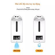 Máy đo nhiệt độ K10 pro tích hợp rửa tay tự động phun sương nhả gel mới nhất 2021 thumbnail