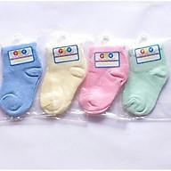Set 4 đôi Vớ Tất màu sơ sinh cho bé yêu từ 0-6 tháng (Giao màu ngẫu nhiên) thumbnail