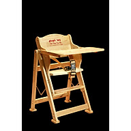Ghế ăn dặm gỗ Đại Vĩ - Có dây bảo hiểm, bàn ăn dặm, gấp gọn - GH05 thumbnail