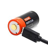 Pin Sạc Cổng Micro USB 3.7V 650mAh 16340 Doublepow DP-CR123A - Hàng Chính Hãng thumbnail