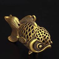 Móc khóa đồng cá chép đan lưới rồng dùng trưng bày trên bàn, treo trong xe oto, móc khóa - SP001526 thumbnail