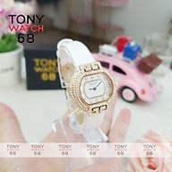 Đồng hồ nữ Guou chính hãng chống nước viền đá kim cô dây da kim xanh thumbnail