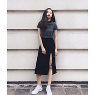 Chân váy umi xẻ tà hàng đẹp,có quần lót trong chống lộ thumbnail