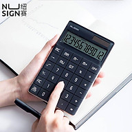 Nusign Desktop Calculator Portable Calculator Widescreen Dual Power Supply Calculator School Student Teaching Stationery Calculating Tool For Office Home Use thumbnail
