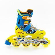 Giày Patin trẻm em Cougar 835LSG hàng chính hãng có bánh đèn + điều chỉnh được 3 size có thể đi được 2-3 năm thumbnail