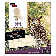 Incredibuilds Owl 3D Wood Model thumbnail