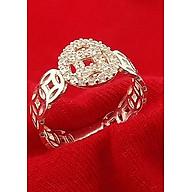 Nhẫn nữ Bạc Quang Thản, nhẫn nữ kim tiền mặt chữ vạn gắn đá cobic chất liệu bạc thật không xi mạ, thích hợp đeo tại các buối dạ tiệc, sinh nhật, làm quà tặng QTNU38 thumbnail