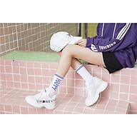 SET 5 Đôi Vớ tất nữ cổ cao in hình chữ phong cách thể thao Hàn Quốc TN43 thông thoáng thấm hút mồ hôi thumbnail