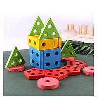 Thả Hình Khối Trên Thanh Bằng Gỗ Giáo Cụ Montessori Giúp Bé Phát Triển Trí Não thumbnail