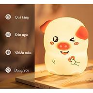Đèn ngủ cảm ứng chuyên dùng cho gia đình, ánh sáng điều chỉnh đổi màu cao cấp hình con PIG vui vẻ ( TẶNG KÈM 03 NÚT KẸP CAO SU ĐA NĂNG NGẪU NHIÊN ) thumbnail