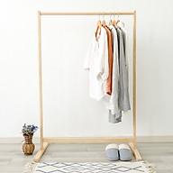 Giá Treo Quần Áo Gỗ Thanh Đơn Single Hanger Size L Nội Thất Kiểu Hàn BEYOURs - Gỗ Tự Nhiên thumbnail