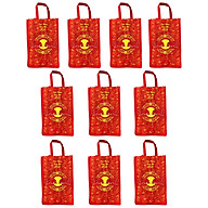 Bộ 10 túi vải đựng đồ cao cấp kích thước 40x30x12cm tiện dụng , thân thiện môi trường ,dễ dàng sử dụng, gấp gọn khi không dùng thumbnail