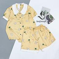 Bộ Ngủ Lụa Satin Đùi Cao Cấp - Babi mama - Bộ Mặc Nhà Pijama BP03 thumbnail