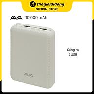 Pin sạc dự phòng 10.000 mAh Ava DS008-WB - Hàng chính hãng thumbnail