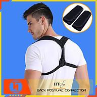 Đai chống gù lưng cao cấp HT SYS Back Posture Corrector - Freesize - Màu đen thumbnail