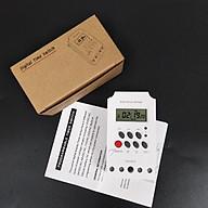 Công tắc hẹn giờ KG316 T-II công suất 25A 220V có khóa phím, bộ hẹn giờ tự động - Được lập trình bật tắt tự động tiết kiệm thời gian cho người dùng thumbnail