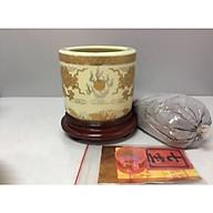 Bát nhang bằng sứ rồng mặt nguyệt (tặng kèm đế gỗ và tro nếp trắng và bộ thất bảo) BH157 thumbnail