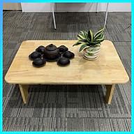 BànTrà Gỗ Đa Năng Chân Thấp 50x70x20cm - ngồi bệt nhỏ gọn gỗ tự nhiên sơn PU chống ẩm, mối mọt phong cách Nhật Bản thumbnail