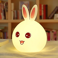 Đèn ngủ hình thỏ cao cấp KHÔNG có điều khiển từ xa ( Màu ngẫu nhiên tai xanh - đỏ ) - Tặng 03 nút kẹp cao su giữ dây điện thumbnail