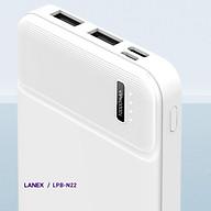 Pin Sạc Dự Phòng 2 Cổng USB 2.1A Dung Lượng 10000 MAH Lanex LBP - N22 Có Đèn Led - Hàng Chính Hãng thumbnail