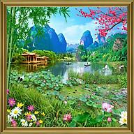 Tranh dán tường cảnh đẹp thiên nhiên hồ sen TN0275K thumbnail