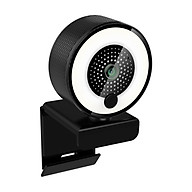 2K HD Streaming Webcam 500W Auto Focus USB Computer Web Camera with 3 Levels Adjustable Ring Light Built-in Microphone thumbnail