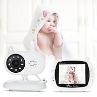Thiết bị theo dõi em bé, hỗ trợ ba mẹ làm công việc hoạt động 2 chiều, có chế độ phát nhạc du ngủ màn hình 3.5inch 850 ( Tặng kèm 03 nút kẹp cao su giữ dây điện cố định ngẫu nhiên ) thumbnail
