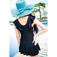 Bikini, Đồ Bơi Đi Biển Thân Liền Tay Bèo Váy Xòe KG030 thumbnail