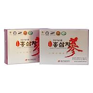 Combo 2 Hộp Trà Sâm Daedong 50 gói Chiết xuất từ hồng sâm nội địa 6 năm tuổi dạng trà hạt cốm Hàn Quốc thumbnail