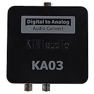 Bộ chuyển đổi âm thanh Optical to AV Công Suất Lớn, Có Cổng Out L R và 3.5mm Kiwi KA03 Audio - Hàng Chính Hãng thumbnail
