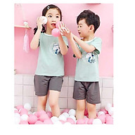Bộ quần áo mùa hè cho các bé gái và bé trai in hình đáng yêu thumbnail
