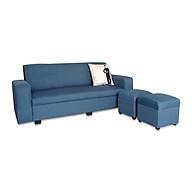 Sofa văng Juno Sofa ES-001 180 x 70 x 75 cm (xanh dương)+ 2 ghế đôn thumbnail