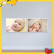 Bộ 2 tranh treo tường em bé bụ bẫm đáng yêu Tranh trẻ em W3096 thumbnail