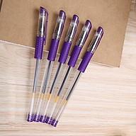 Lẻ 01 cái Bút bi nước mực đen-xanh-tím-đỏ chọn màu thumbnail